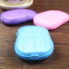 Nowy gorący podróżować pachnący spienianie papier mydło mycie kawałek arkusze dłoń kąpiel 1 PC przewóz pudło tanie tanio Akcesoria podróżne 4 5 cm 1 3 cm 6 5 cm Plastikowe SS18052402 Stałe Pokrowce na paszport W ZUOFILY