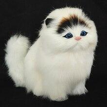 Настоящие волосы, Электронные Домашние животные, кошки, куклы, Имитация животных, игрушки для кошек, мяут, Детские милые плюшевые игрушки для домашних животных, модели, украшения, рождественские подарки