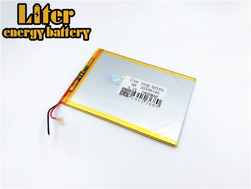 3.7v 7000mah (polymer Lithium Ion Battery) Li-ion Battery For Tablet Pc 9.7 Inch 10.1 Inch Speaker 3.5*100*145 35100145 33100145 3 7v 8000mah sd 37125130 polymer lithium ion li ion battery for universal li ion battery for tablet pc 8 inch 9 inch 10 inch