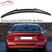 M4 Style Carbon Fiber Rear Spoiler Trunk Lip for BMW 2 series F22 F23 M235i M240i M2 F87 2014 present Boot Tail Lip Splitter