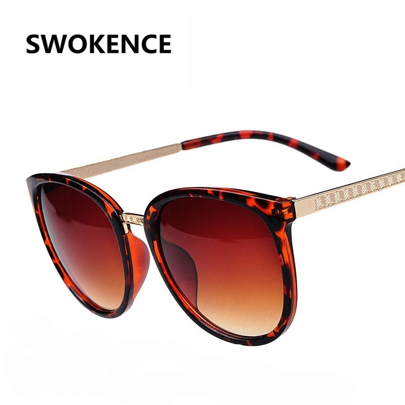 d10615ddea ᗕSWOKENCE Brand Design Women s Round Frame UV400 Sunglasses Lady ...