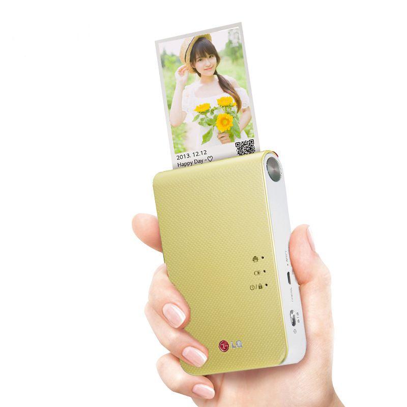 Android iOS smartphone color printer mini wireless bluetooth photo printer pocket color photo printer portable palm