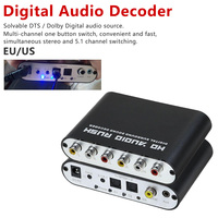 Digital to Analog Audio Rush 5.1 Decoder AC3 conventer Optical Coaxial Dolby Surround Sound Amplifier Converter