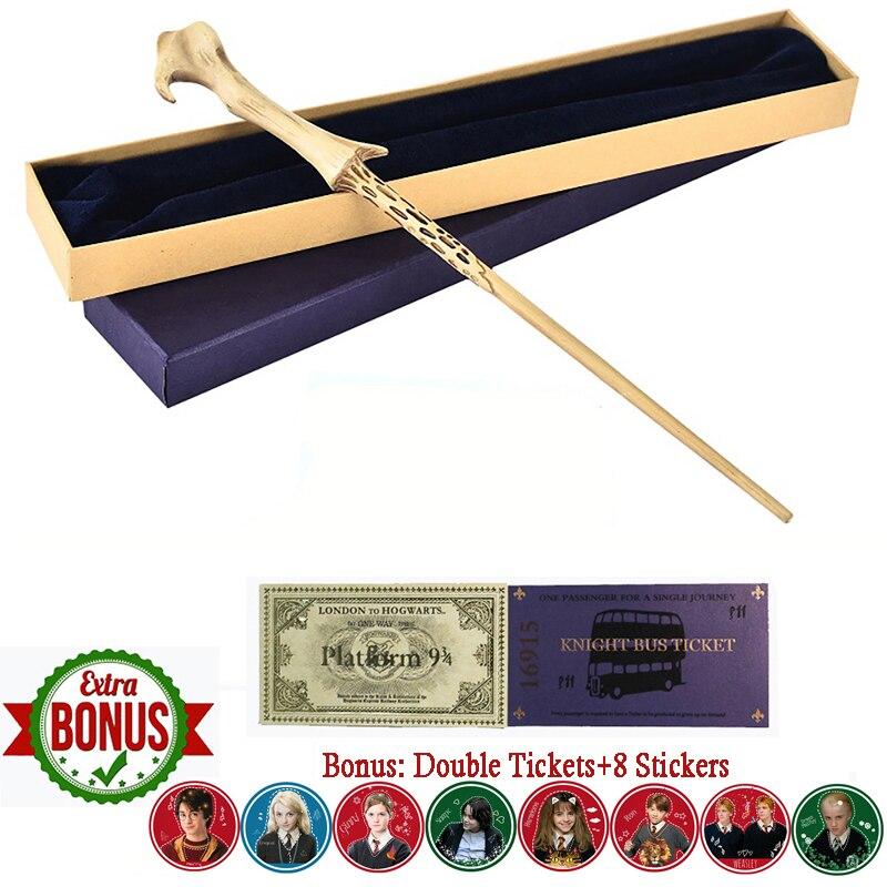 Lord Voldemort Wand Harry Magic Wand Hogwart Train Ticket  Knight Bus Ticket 8pcs Tickets As Gift  Metal Iron Core Wand