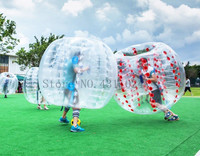 Free Shipping TPU Transparent 5 feet 1.5M Diameter Inflatable Bumper Ball Human Ball Bubble Soccer Football outdoor Zorb Ball