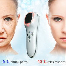 Ultrasonic Hot Cold Firming Face Fast Shrink Pore Rejuvenation Vibration Facial massage 6/42 degrees alternately Shrink pores