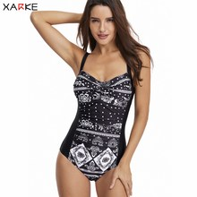 XARKE Swimsuit One Piece Bikini Women Monokini Sexy Body Suit Push Up for Ladies Swimwear Female Swimming