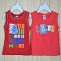 Baby Singlets Tank Tops boys t-shirts baby boy clothes red vest boys clothing shirts