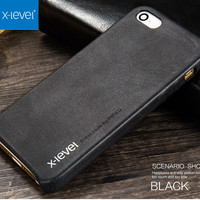 X Level Ultra Thin Slim Vintage Case For IPhone 5S 5 SE Fundas Luxury Soft PU