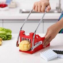 Резак для картофеля фри из нержавеющей стали, машина для резки картофельных чипсов, слайсер, измельчитель, кухонные гаджеты, инструменты