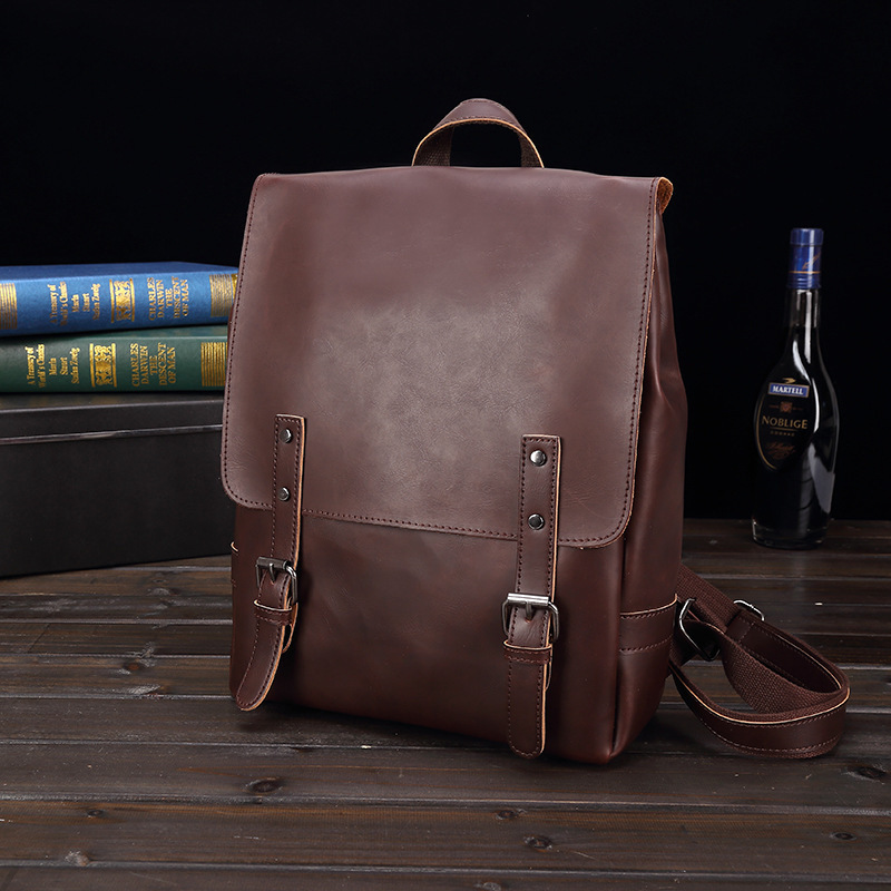 2018 New Vintage Man And Women Backpack PU Leather School bag Women Casual Style Shoulder Bag Backpack For Teenagers Backpack spring autumn kids motorcycle leather jacket black boys moto jackets clothes children outwear for boy clothing coats costume page 2