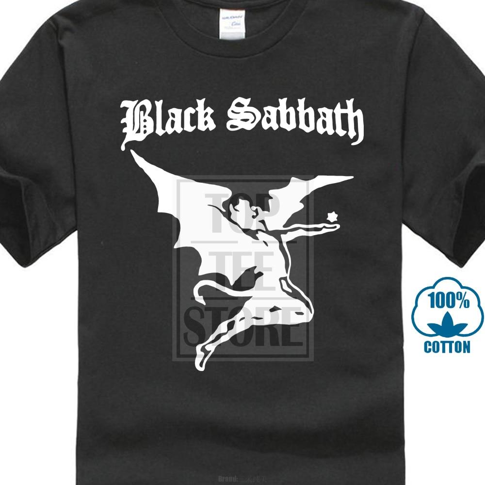 ba12c607e47c New Designer Black Sabbath Logo T Shirts Men Cotton Short Sleeve Heavy  Metal Rock Band Men'S