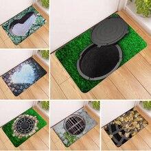 3D печать ловушка пластиковый коврик у входной двери Кухня Спальня Ванная комната, коридор, фойе абсорбирующий Коврик Non-Slip 60x40 см HM0628