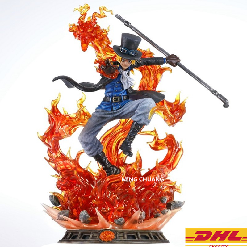 Statue ONE PIECE The Straw Hat Pirates Bust Sabo Brothers Monkey D. Luffy GK 32CM Action Figure Collectible Model Toy BOX D696 цена