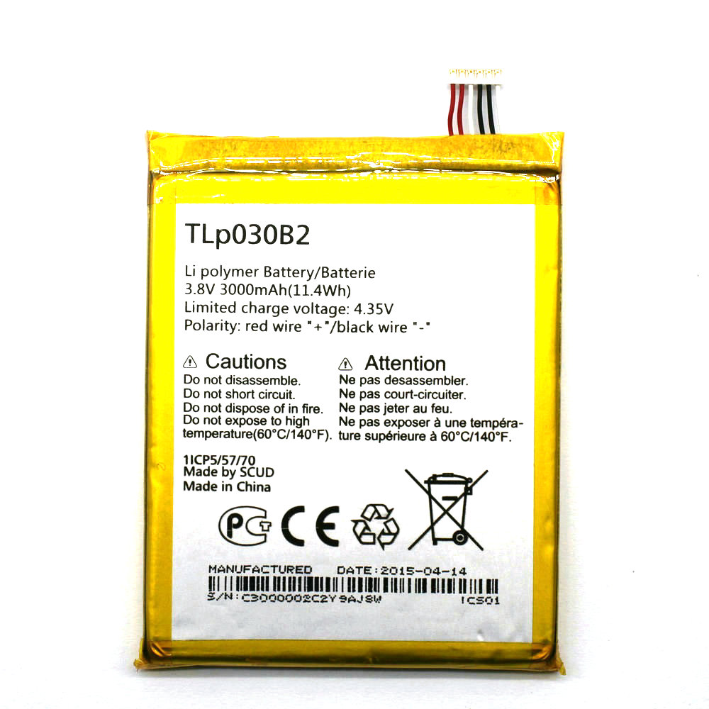 New TLp030B1 TLp030B2 3000mAh 3.8V Battery For Alcatel One Touch Onetouch Pop S7 OT 7045 <font><b>7045Y</b></font> Vodafone image