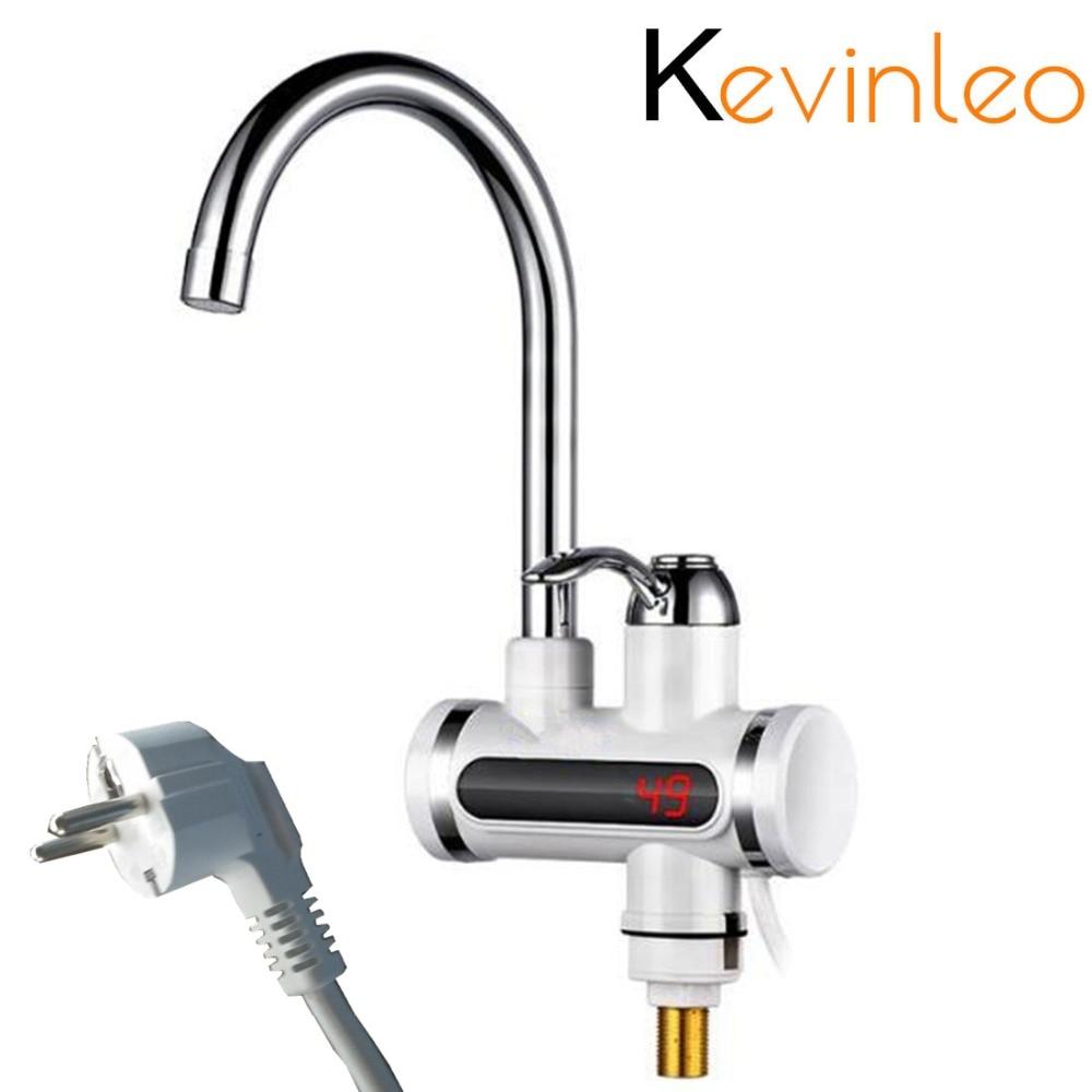Küche Tankless Wasser Heizung 220 V 3000 W Instant Elektrische Wasserhahn Heißer Wasser Elektrische Schnelle Heizung Wasserhahn mit Temperatur Display