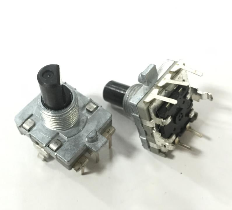 15mm Digital Potentiometer With The Best Service Pulse Shaft Length 24 Position With Press Switch Objective 5pcs/lot Taiwan Sw Rising Wei Type Ec16 Encoder
