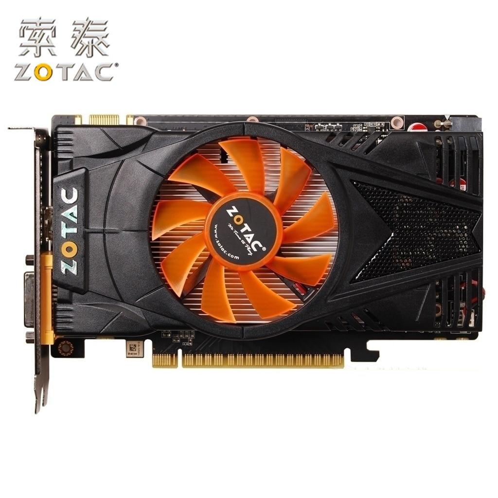 Carte graphique d'origine ZOTAC GeForce GTX 550Ti-1GD5 Thunder PB pour NVIDIA GTX500 GTX550 1GD5 1G cartes vidéo 192bit GDDR5 d'occasion