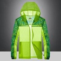 Outdoor Sports Jacket Men Sun Protective Anti UV Summer Running Camping Hiking Jacket Thin Waterproof Sunscreen
