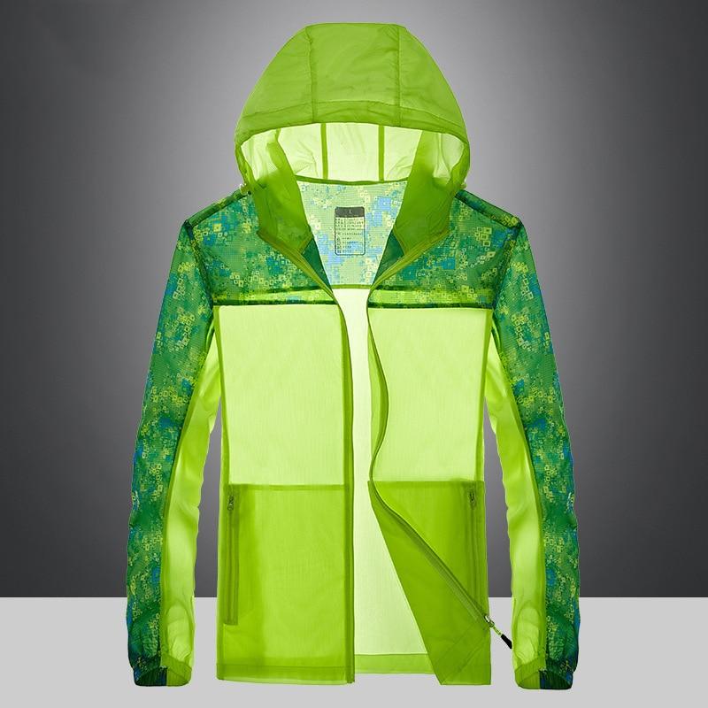 Outdoor sports jacket men sun-protective anti-UV Summer running camping hiking jacket thin waterproof sunscreen skin clothing