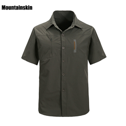 2017 New Men's Quick Dry Shirts Ourdoor Breathable Short Sleeve Shirts Male Sports Top Clothes For Hiking Trekking RM131