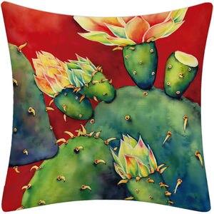 Image 3 - Tropical Sukkulenten Pflanzen Kaktus Blume Druck Kissen Kissen Abdeckung für Couch Auto Sofa Hinterhof Küche Home Room Decor