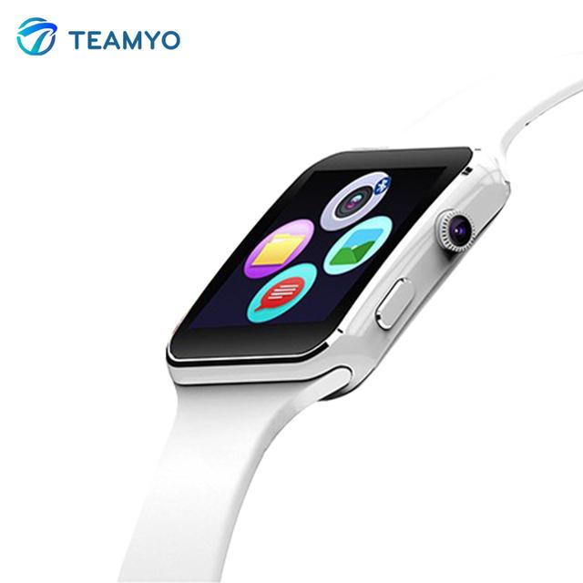 X6 mais smart watch x6 + smartwatch relógio do esporte do bluetooth para iphone android celular com câmera de apoio tf cartão sim facebook twitter