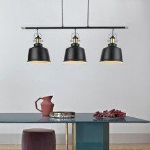 Rétro Loft industriel fer pendentif éclairage pour salle à manger Vintage pendentif LED lampe moderne Suspension/Suspension intérieure