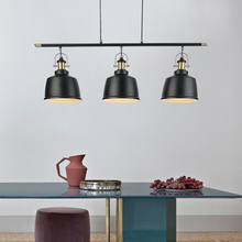 Retro Loft przemysłowe żelaza wisiorek oświetlenie dla jadalnia pokój w stylu Vintage wisiorek LED lampa nowoczesny wisiorek światła/zawieszenie kryty