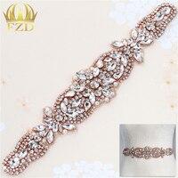 (1 pezzo) Wedding Sash Cintura di Cristallo Applique Perla Diamante Strass FAI DA TE Craft Motif Sliver Cristallo di Vetro Flatback Per Giarrettiera