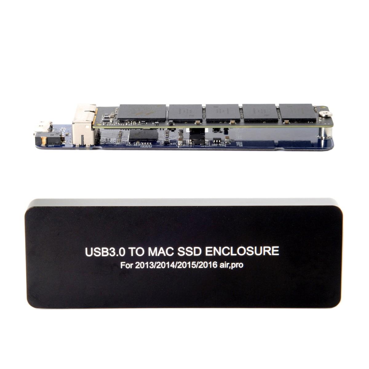 10 pcs/lot Cablecc Mac book Air Pro 2013 2014 2015 2016 SSD Étui Portable USB 3.0 à 16 + 12 Broches Mobile Boîte Boîtier de DISQUE DUR USB 3.0