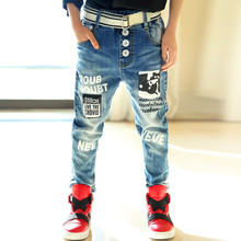 Brand Baby Boys Jeans Spring Children's Clothes Casual Jeans Baby Boys Kids Pant Toddler Clothing for 6 10 12 13 Years Teenager