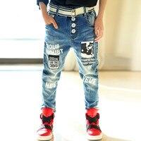 Nueva Marca Baby Boys Jeans Primavera Vaqueros ocasionales de los Niños de Los Bebés Cabritos de la Ropa Del Pantalón Ropa Del Niño para 12-13 Años de Adolescente