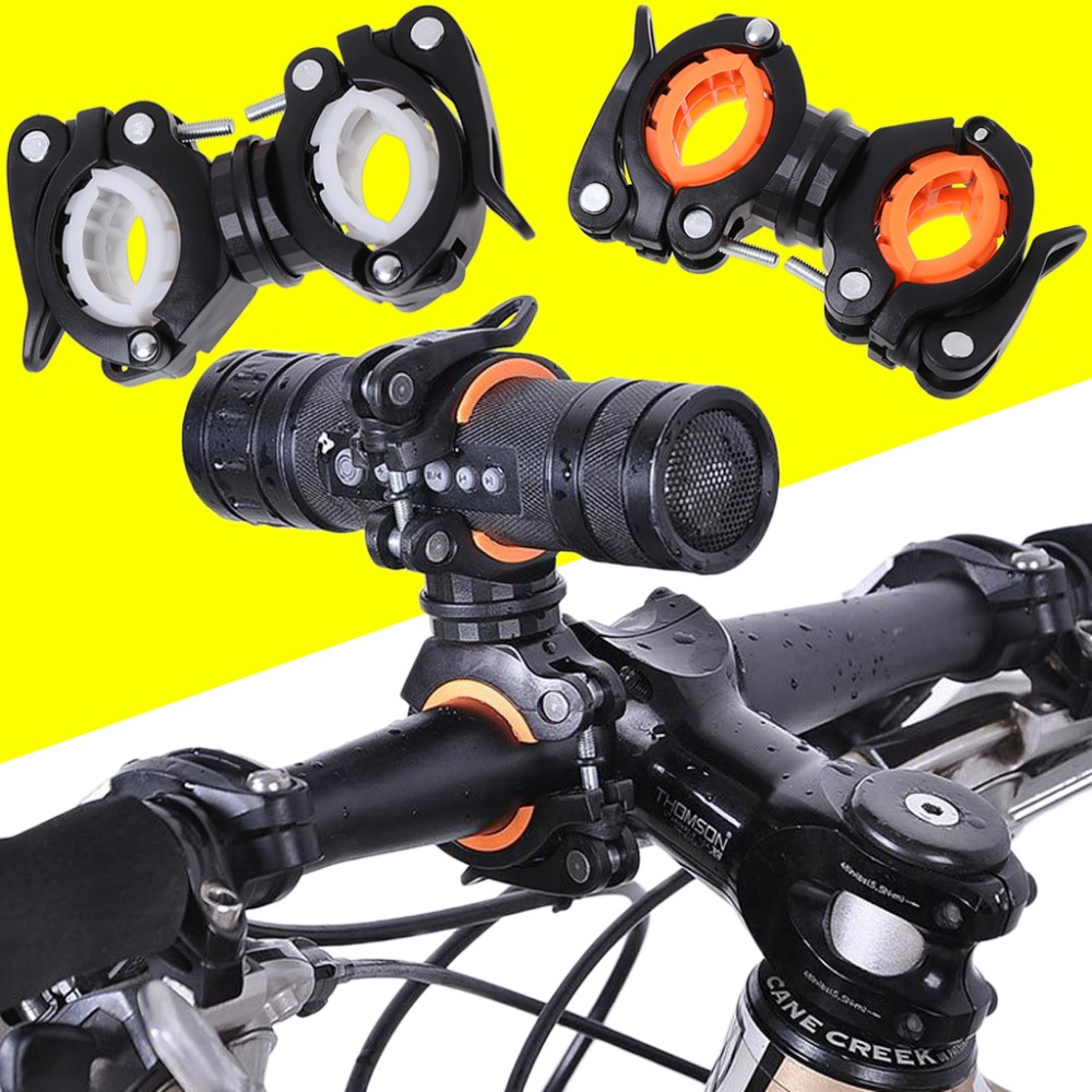 360 Degree Rotation Cycling <font><b>Bike</b></font> Bicycle Flashlight Torch Mount LED Head Front <font><b>Light</b></font> <font><b>Holder</b></font> Clip Bicycle Accessories image
