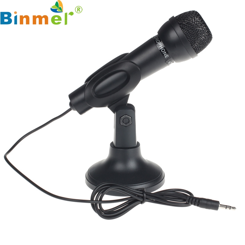 BINMER For Desktop PC 3.5mm Net Chat KTV Speech Microphone MIC Stand Mount Futural Digital AP18