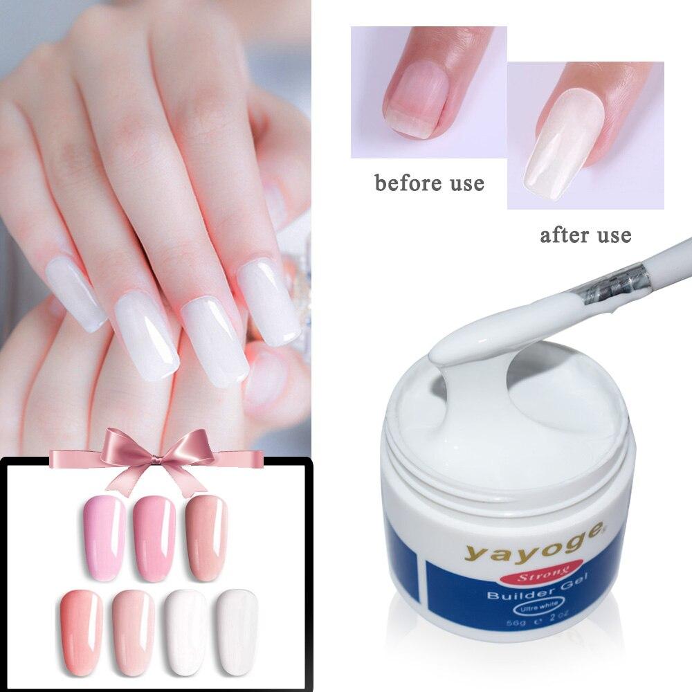 56g Builder Gel barniz esmalte de uñas para uñas extensión YAYOGE UV Gel LED claro Sculpting camuflaje manicure 7 color