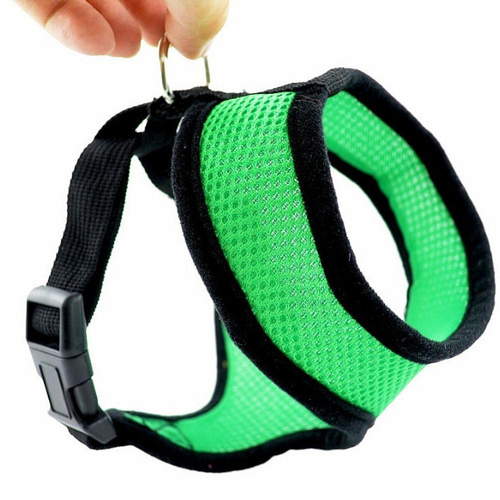 XS/S/M/L/XL Dog Harness Soft Nylon Mesh Vest Dog Lead Leash Chest Belt Adjustable #01