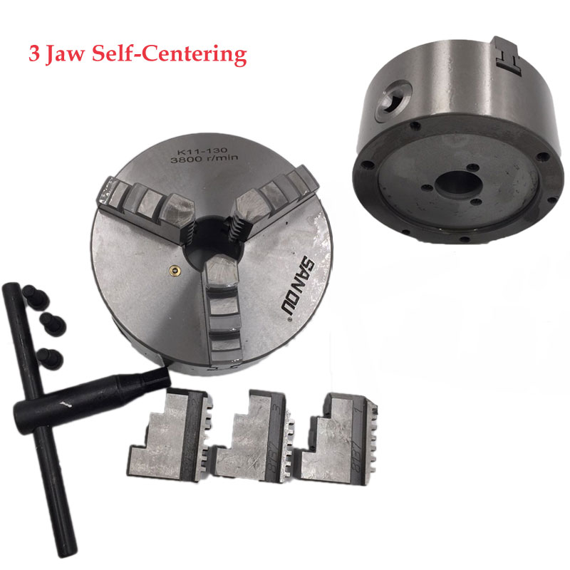 3 Jaw Lathe Chuck 80mm 100mm 125mm 130mm 160mm 200mm Self-centering Metal Chuck CNC Metalworking Tool 3 3 jaw lathe chuck k11 80 k11 80 80mm manual chuck self centering lathe parts diy metal lathe lathe accessories