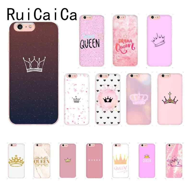Ruicaica Queen S Crown So Cool Cute Pattern Aesthetic Phone Case For Iphone8 7 6 6s Plus 5 5s Se Xr X Xsmax 10 11 11pro 11promax Phone Case Covers Aliexpress