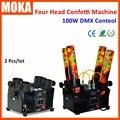 2Unit/Lot Four Head Electric Confetti  Effect Machine DJ Confetti Cannon DMX wedding confetti shooter
