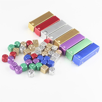 5pcs Pack 16mm Colorful Round Corner Game Dice Solid Dice Bar Supplies Mahjong Metal Dice With