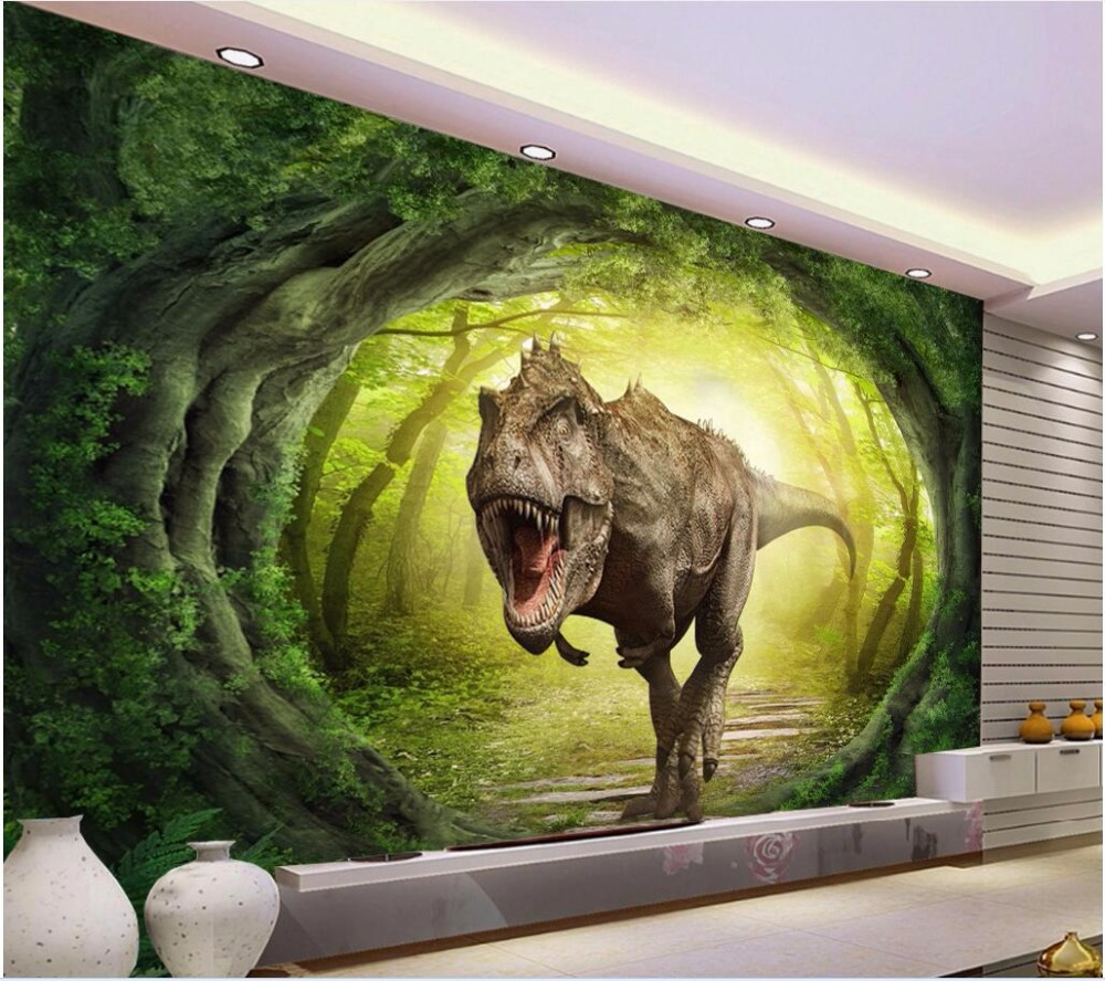 3d wallpaper custom mural photo dinosaur world scenery forest picture room painting 3d wall murals wall paper for walls 3 d 3d wall murals wallpaper for living room walls 3 d photo wallpaper sun water falls home decor picture custom mural painting