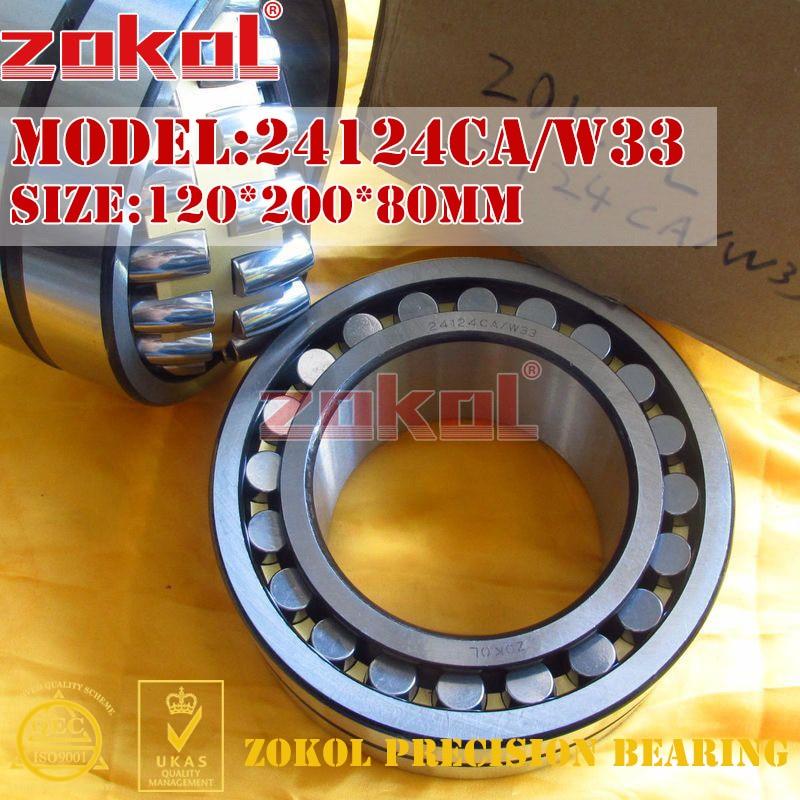 ZOKOL 24124 CA W33 bearing 24124CA W33 Spherical Roller bearing 4053724HK self-aligning roller bearing 120*200*80mm zokol bearing 22213ca w33 spherical roller bearing 3513hk self aligning roller bearing 65 120 31mm
