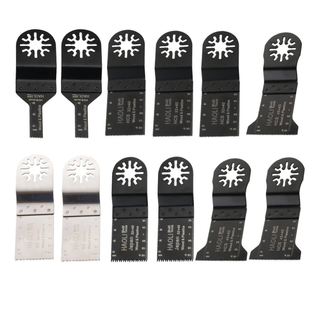 12pcs E-cut Oscillating Tool saw blade fit for multifunction power tool such as FEIN,Dremel,TCH,FREE SHIPPING 24pc oscillating tool saw blade fit for multifunction power tool as black