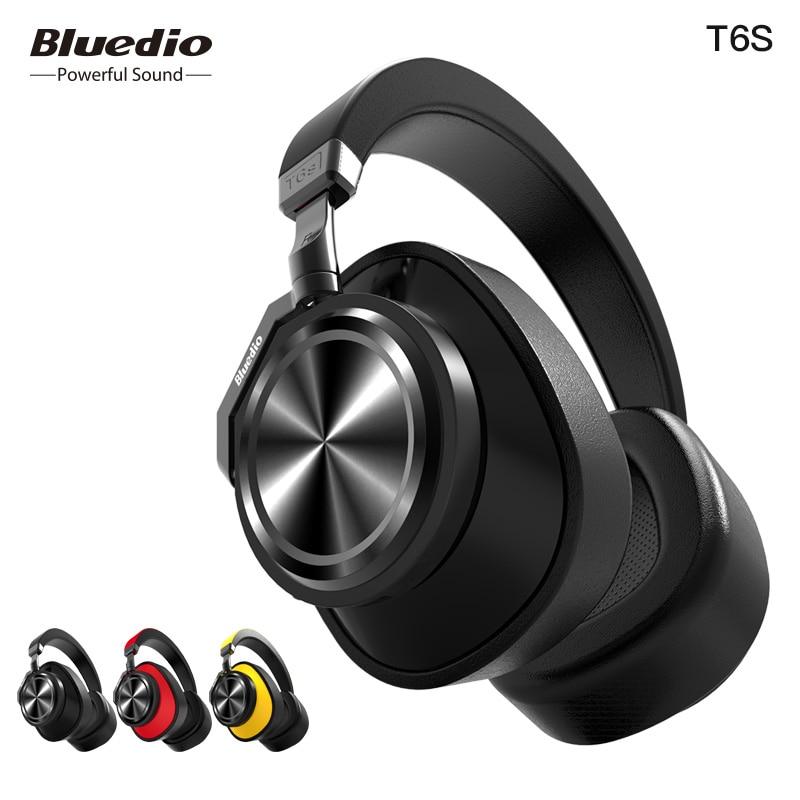 Bluedio T6S Bluetooth Kopfhörer Aktive Noise Cancelling Wireless Headset für handys und musik mit voice control