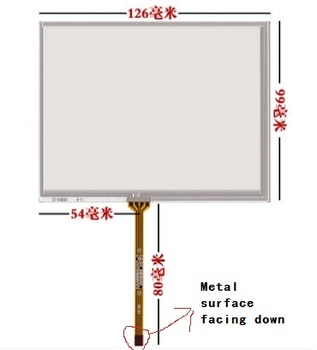 New 5.6 inch touch screen 126*99 for AT056TN04 V.6 TM056KDH01 TM056KDH02 AT056TN53 free shipping