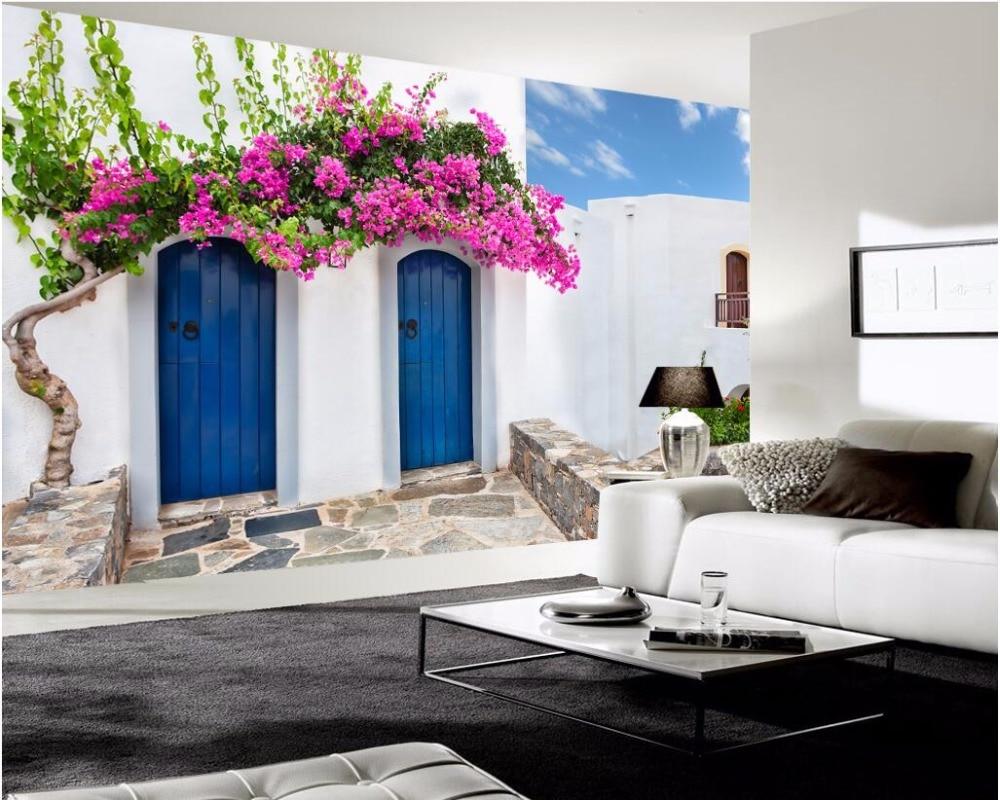 Beautiful 3d Wallpaper Benutzerdefinierte Foto Mural Meer Gebäude Blumen Zimmer Dekor  Malerei 3d Wand Mural Tapete Für Wände 3 D In 3d Wallpaper  Benutzerdefinierte ...
