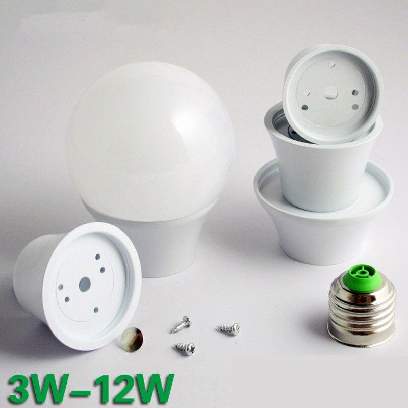 10x Kit de bombilla LED E27 12w 9w 7w 5w lámpara LED A70 A60 bombillas E14 foco lámpara ampolla burbuja bola bombilla accesorios DIY Novedosas Bombillas E27, bombilla LED de 220 V, 4,5 W, 8 W, 220 V, lámpara LED E27 de alta calidad