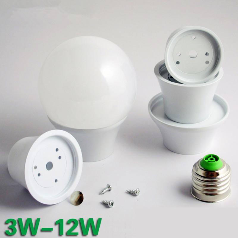 10x LED Bulb Kit E27 12w 9w 7w 5w LED Lamp A70 A60 Bulbs E14 Spotlight Lampada Ampoule Bubble Ball Bulb Shell Accessories DIY