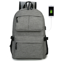 Backpack junior high school student bag external USB charging backpack Han Chao College wind high school female student backpack
